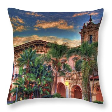 Throw Pillow featuring the photograph First Morning Glow by Gary Holmes