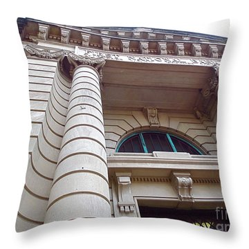 First National Bank Building. Ft. Myers Florida. Throw Pillow