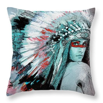First Nations 005 C Throw Pillow