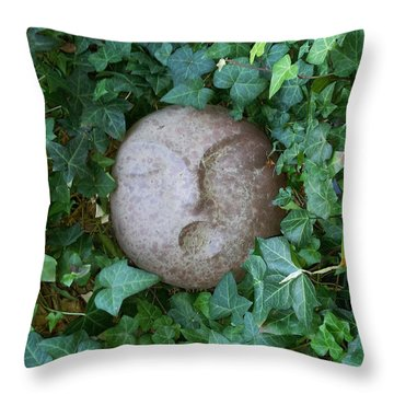 Throw Pillow featuring the sculpture First People by Kristen R Kennedy