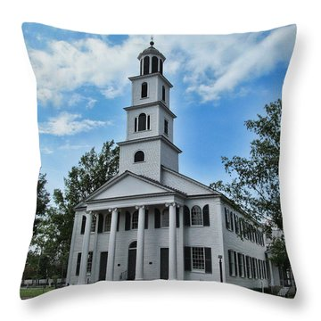 First Presbyterian Church Throw Pillow by Victor Montgomery