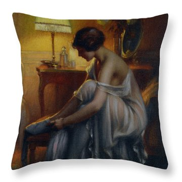 First Primers Throw Pillow by Delphin Enjolras
