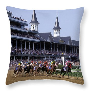 First Saturday In May - Fs000544 Throw Pillow