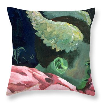 First Sight Throw Pillow by Rene Capone