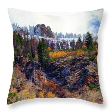 First Snow Throw Pillow by Brian Kerls