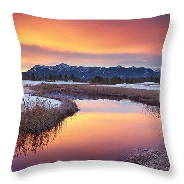 First Snow Throw Pillow by Michael Breitung