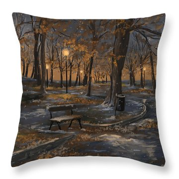 First Snowfall Throw Pillow