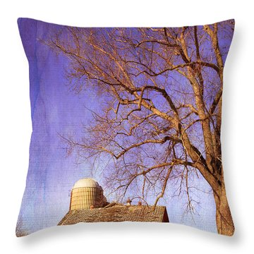 First Snows On The Farm Throw Pillow