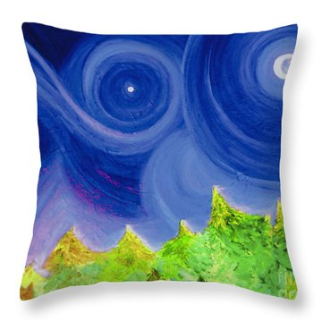 Throw Pillow featuring the painting First Star By  Jrr by First Star Art