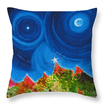 First Star Christmas Wish By Jrr Throw Pillow by First Star Art