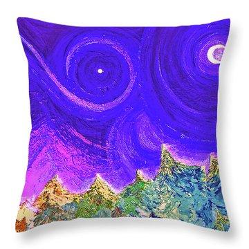 First Star Sunrise Throw Pillow by First Star Art
