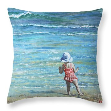 First Step Into The Unknown Throw Pillow