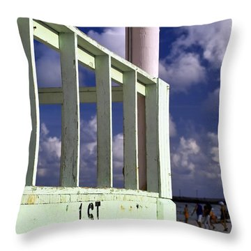 First Street Porch Throw Pillow by Gary Dean Mercer Clark