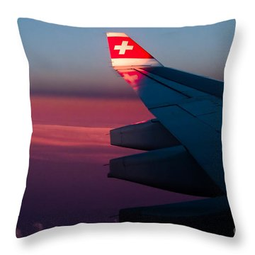 First Sunlight Throw Pillow by Syed Aqueel