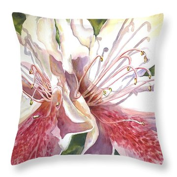First Thoughts Of Spring Throw Pillow by Roxanne Tobaison