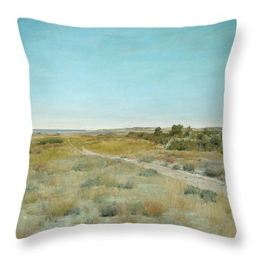 Throw Pillow featuring the painting First Touch Of Autumn by William Merritt Chase