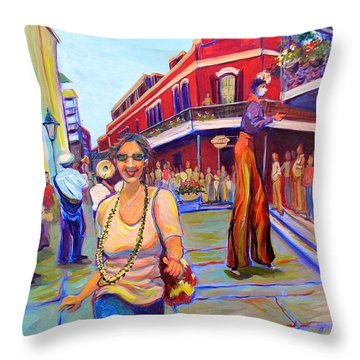 First Trip To New Orleans Throw Pillow