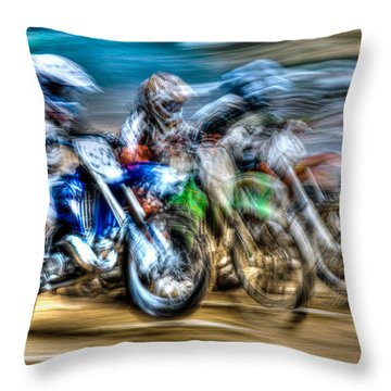 First Turn In Sight Throw Pillow