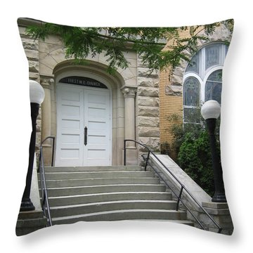 First United Methodist Church Williamstown Wv Throw Pillow