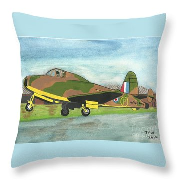 Throw Pillow featuring the painting Firstflight by John Williams