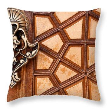 Firuz Aga Mosque Door 03 Throw Pillow