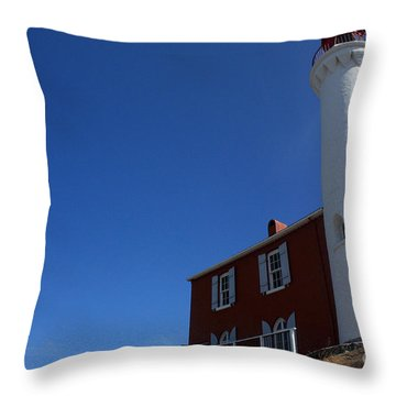 Fisguard Lighthouse Throw Pillow