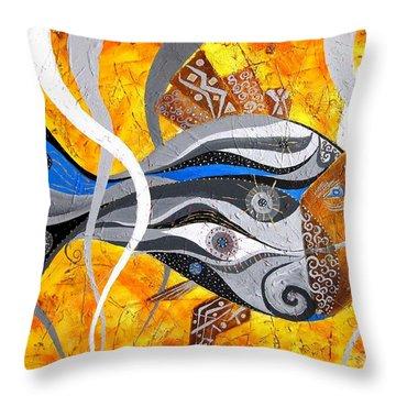 Fish 0465 - Marucii Throw Pillow by Marek Lutek