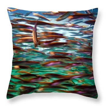 Fish 1 Throw Pillow by Dawn Eshelman