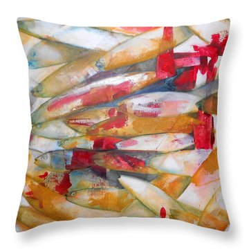 Fish 3 Throw Pillow by Danielle Nelisse