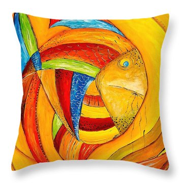 Fish 428-08-13 Marucii Throw Pillow