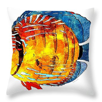 Fish 502-11-13 Marucii Throw Pillow