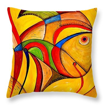 Fish 534-11-13 Marucii Throw Pillow