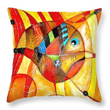 Fish 716-14 Marucii Throw Pillow