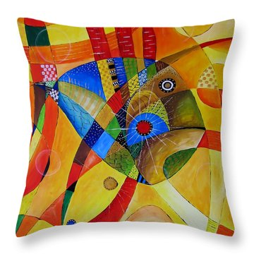 Fish 752 - Marucii Throw Pillow