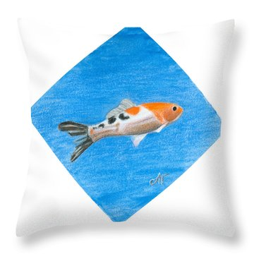 Fish Throw Pillow by Ana Tirolese