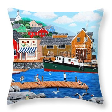 Fish And More Fish Throw Pillow by Wilfrido Limvalencia