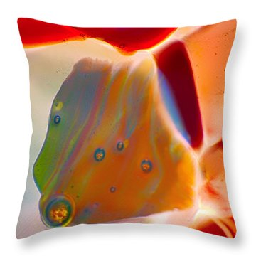 Fish Blowing Bubbles Throw Pillow by Omaste Witkowski