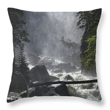 Throw Pillow featuring the photograph Fish Creek Mist by Don Schwartz