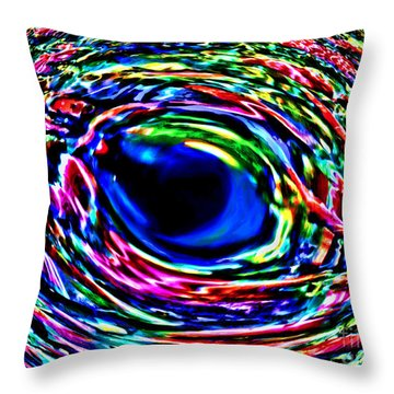 Throw Pillow featuring the photograph Fish Eye by David Lawson