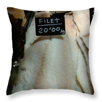 Fish Filets Throw Pillow