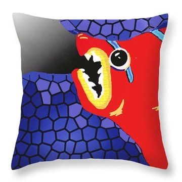 Fish Food Throw Pillow