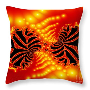 Throw Pillow featuring the digital art Anger by Hai Pham
