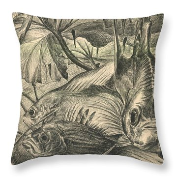 Fish Haven Throw Pillow