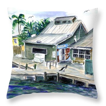 Fish House Throw Pillow