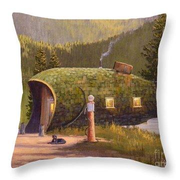 Fish Inn Throw Pillow