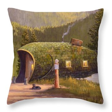 Fish Inn Throw Pillow