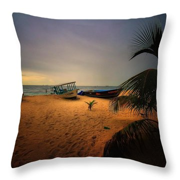 Fish Or Cut Bait Throw Pillow