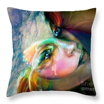 Fish Out Of Water Throw Pillow