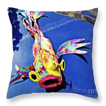 Fish Out Of Water Throw Pillow by Sarah Loft