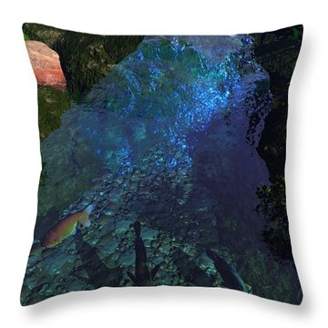 Fish Pond Throw Pillow by John Pangia